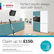 Up To £150 Cashback With Bosch!