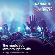 6 Months FREE Deezer Music With Samsung!
