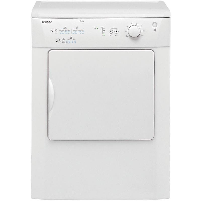 Beko Drvt61w 6kg Vented Tumble Dryer In White Reverse