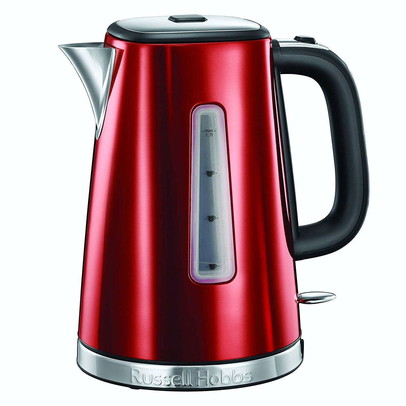 Russell Hobbs 23210 LUNA 1.7 Litre Kettle in Red, 3.0 kW Quiet boil