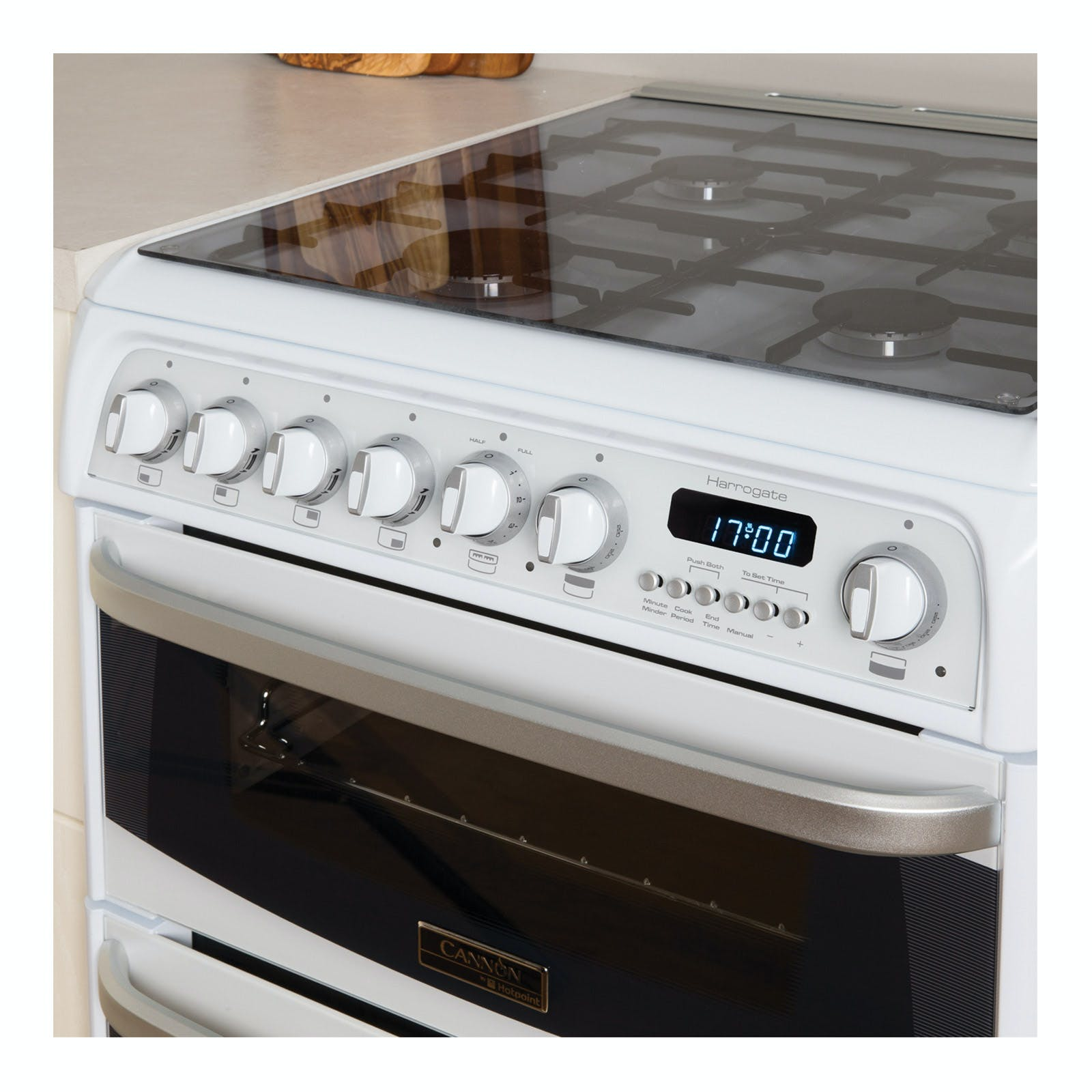 Cannon CH60GCIW 60cm CARRICK Gas Cooker in White, Double Oven A+ Rated
