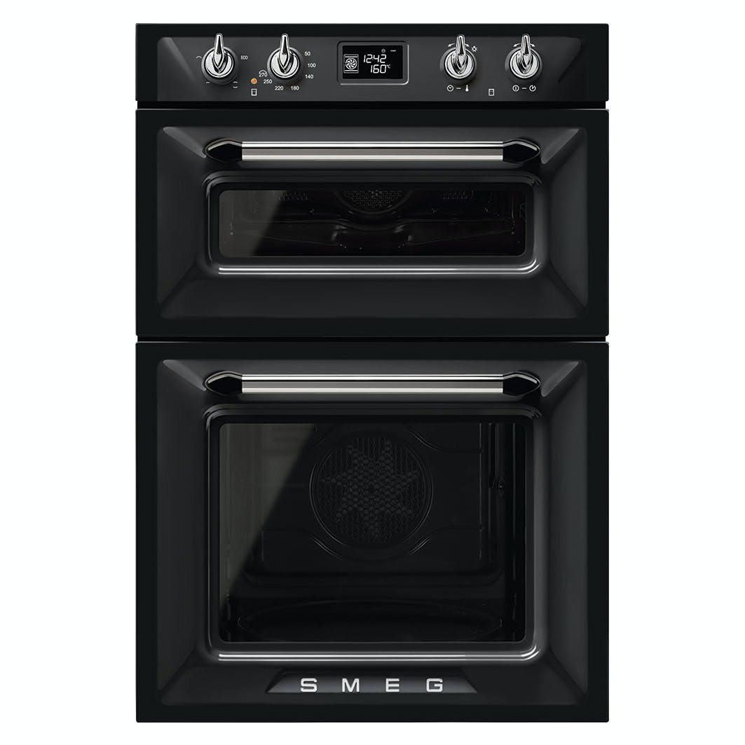 Smeg Dosf6920n1 60cm Victoria Built In Double Oven In Black