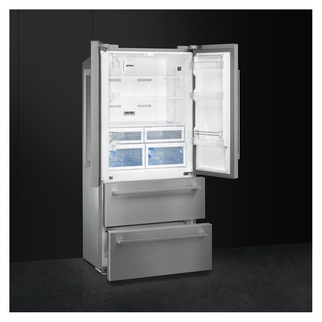Smeg Fq55fx1 American Frost Free Fridge Freezer In
