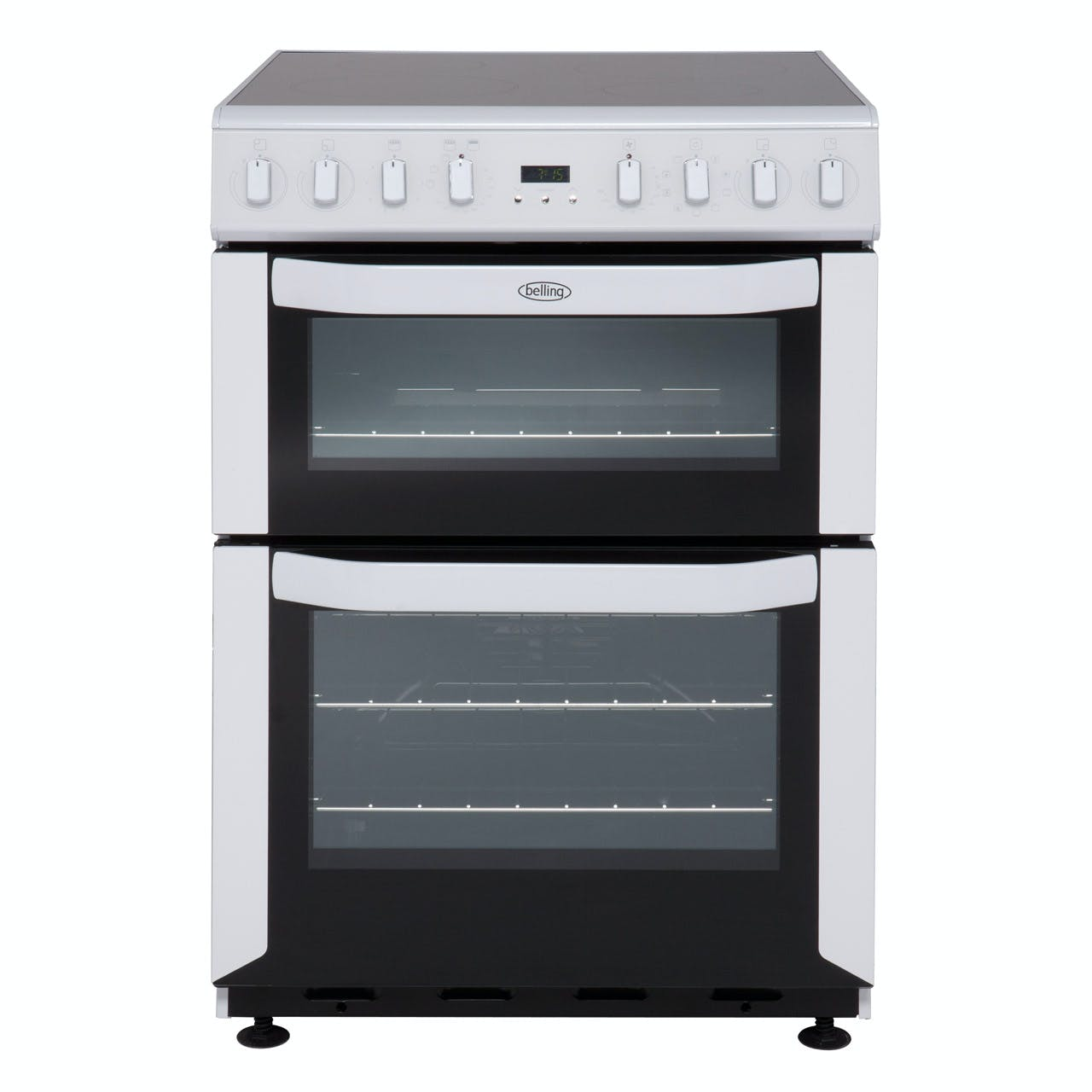 Belling 444443703 60cm Electric Cooker In White Induction Hob