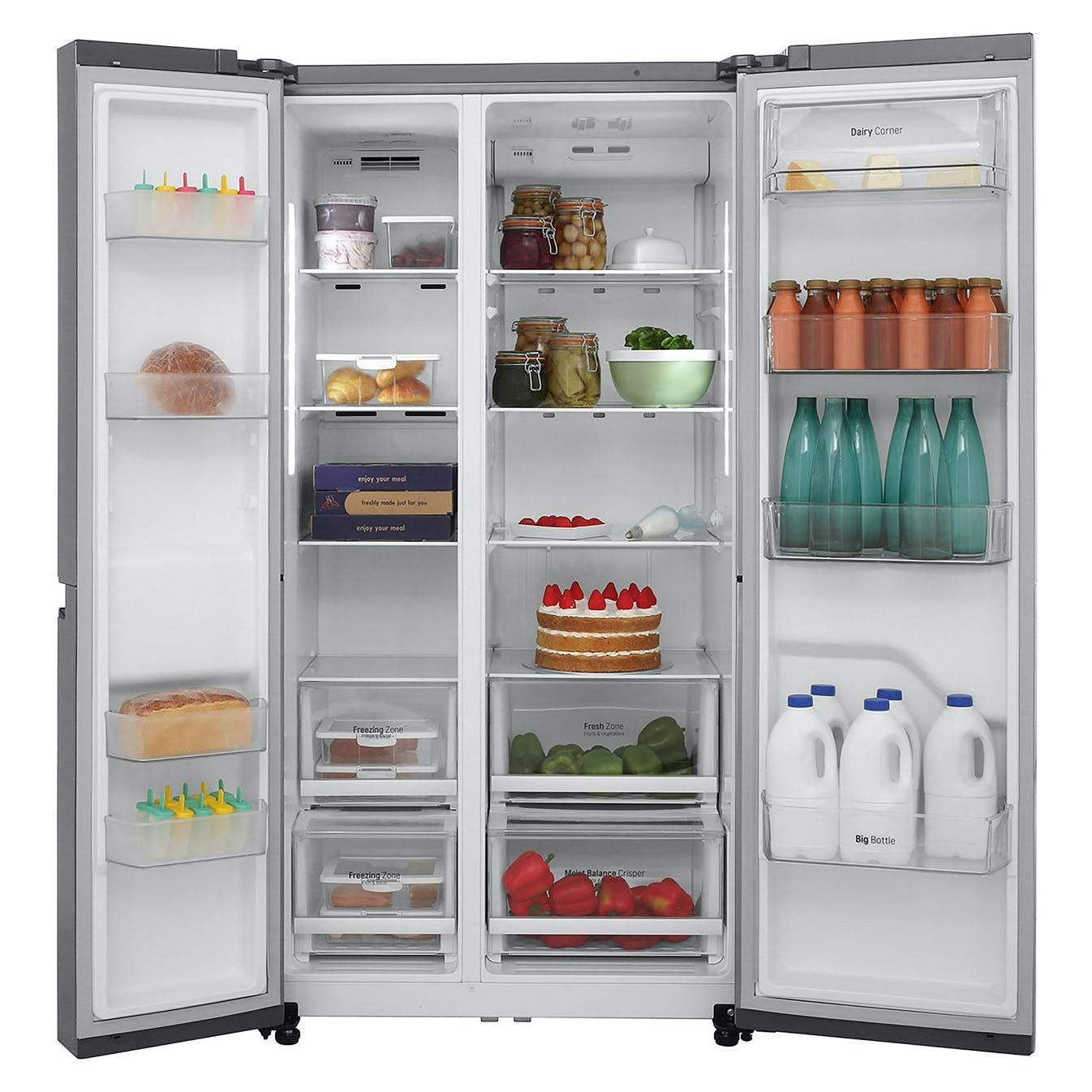 LG GSB760PZXV American Fridge Freezer in St/Steel, 1 79m A+ Rated