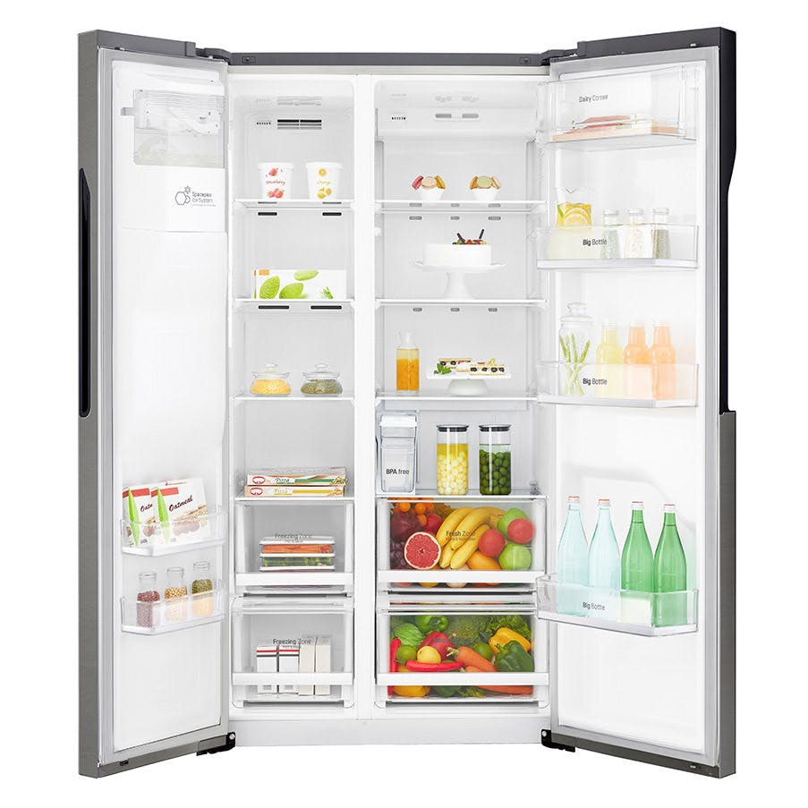 lg gsl361icez side by side fridge freezer in graphite ice water a. Black Bedroom Furniture Sets. Home Design Ideas