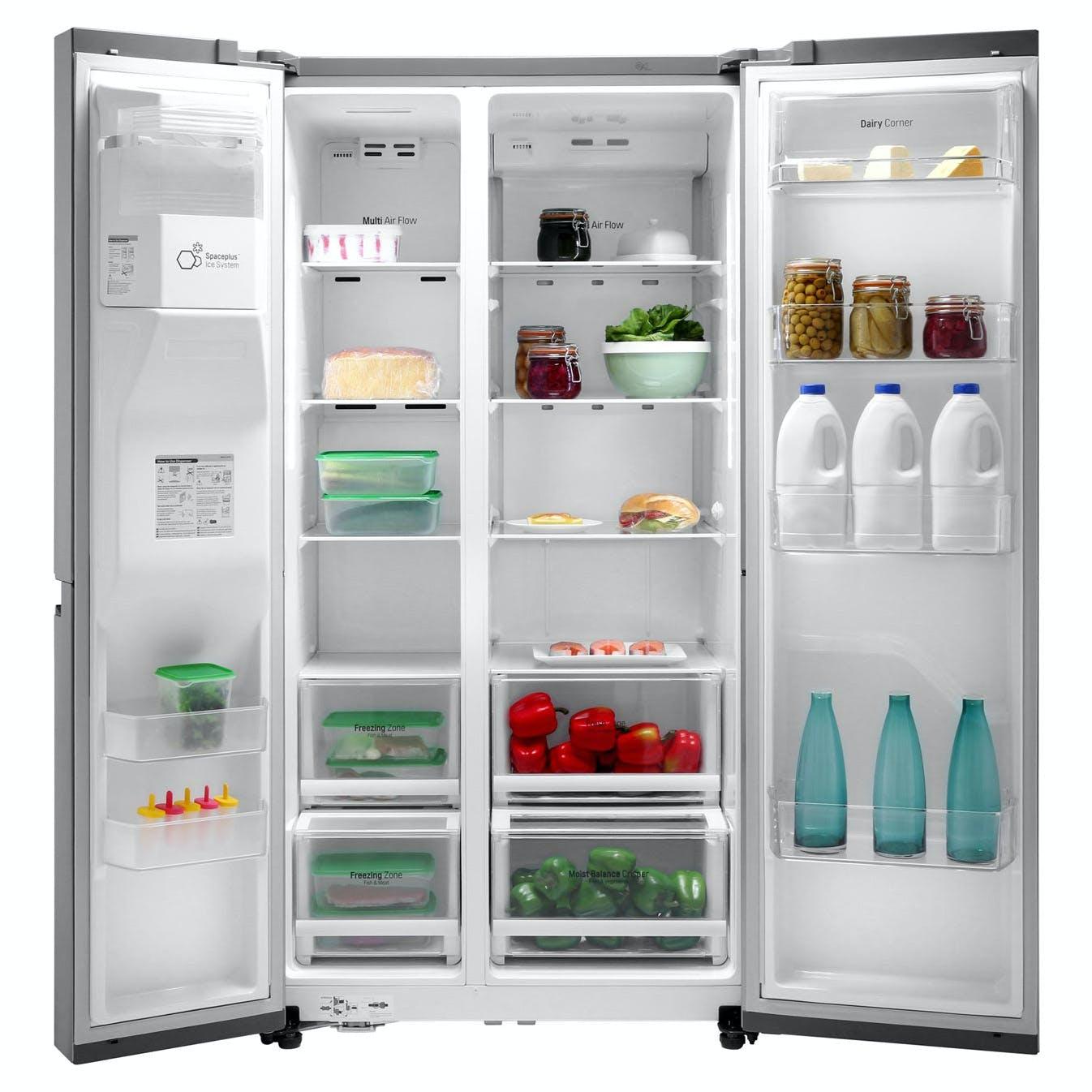 LG GSL760PZXV American Fridge Freezer in Shiny Steel, Ice/Water PL