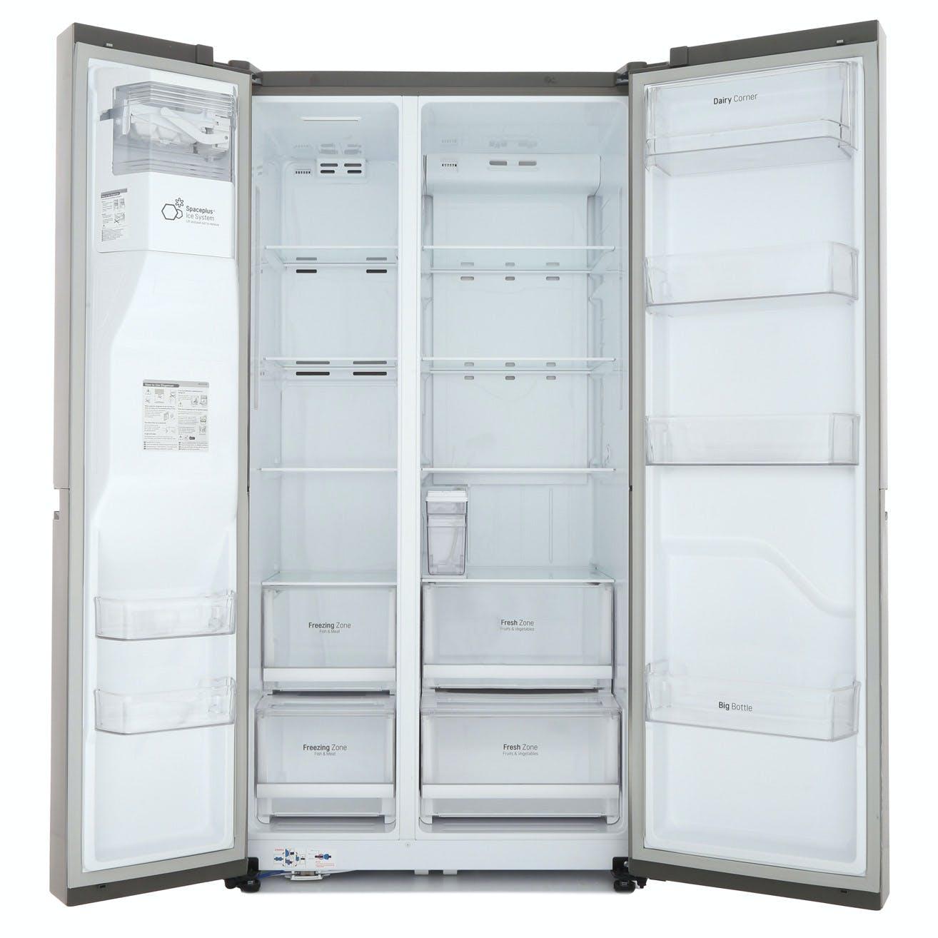 LG GSL761PZXV American Fridge Freezer in Shiny Steel, Ice/Water NP