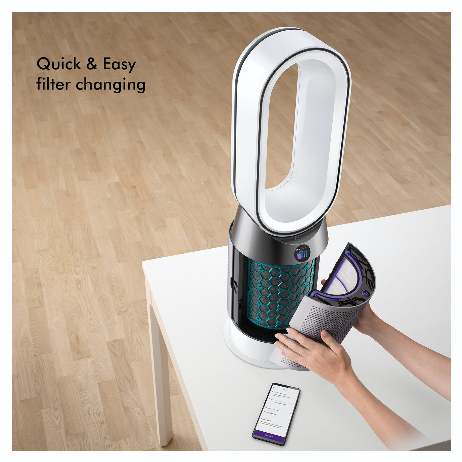 Dyson Hp04 White Pure Hot Cool Link Air Purifier Fan In