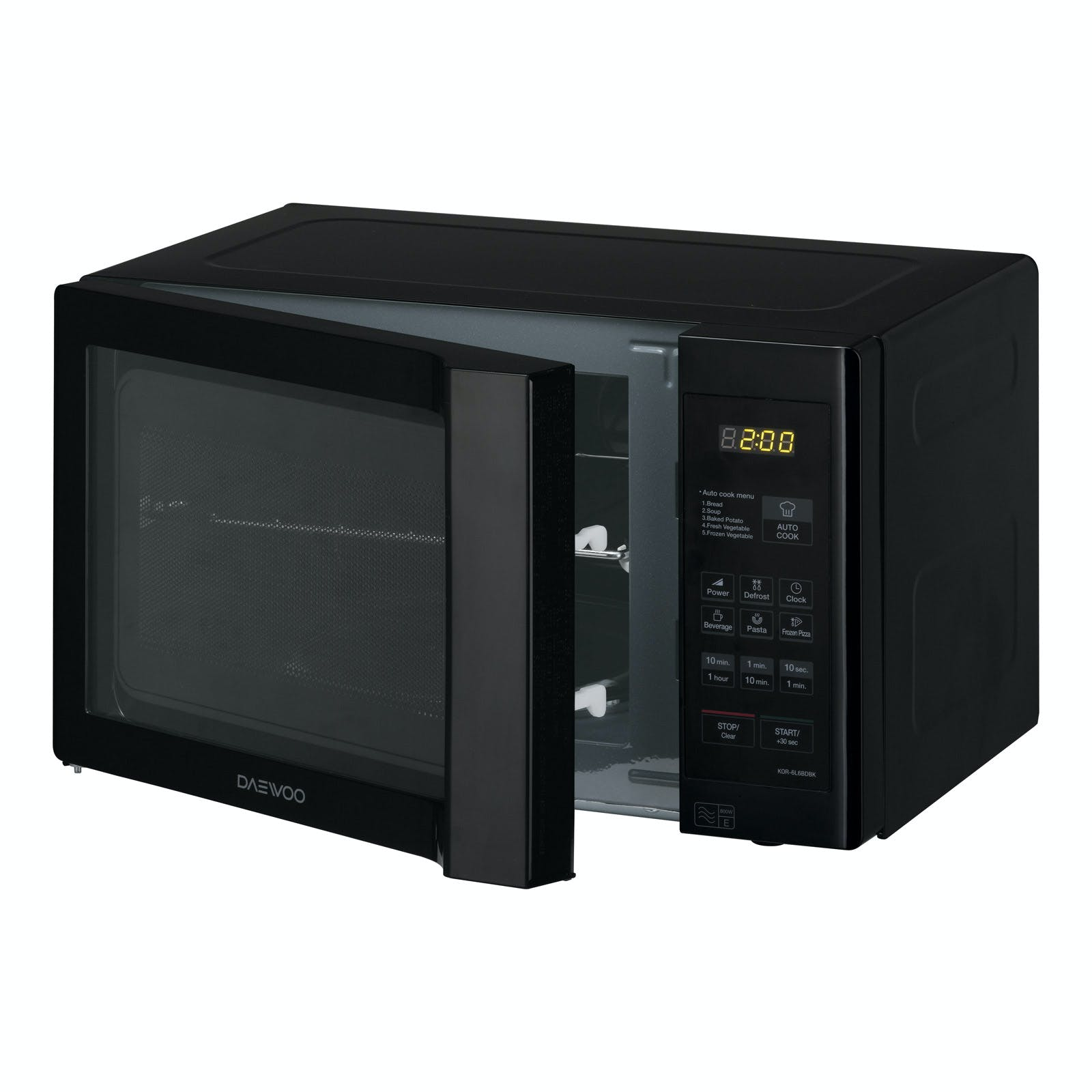 Daewoo KOR6L6BDBK Microwave Oven in Black, 20L 800W Touch Controls