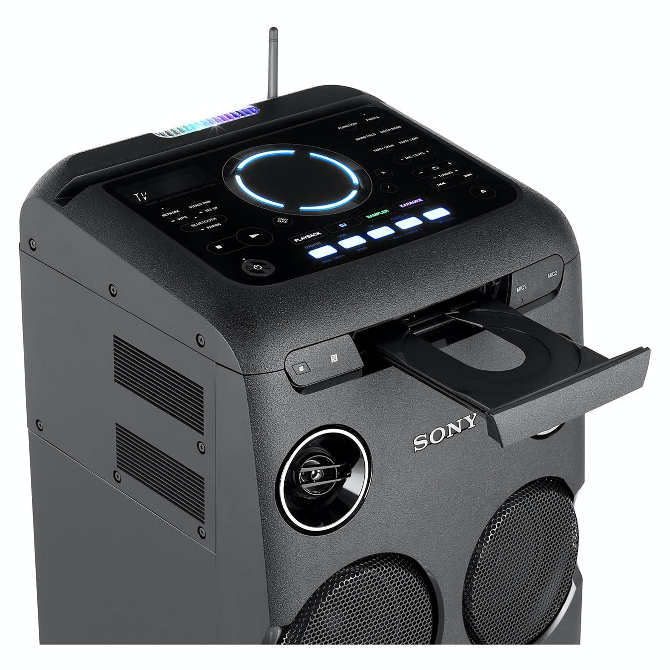sony mhcv77dw high power home audio system with bluetooth. Black Bedroom Furniture Sets. Home Design Ideas