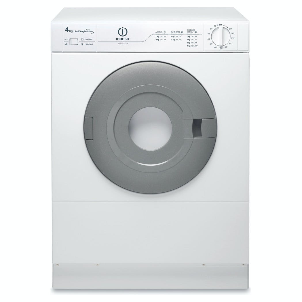 Indesit Nis41v 4kg Vented Compact Tumble Dryer In White C Rated