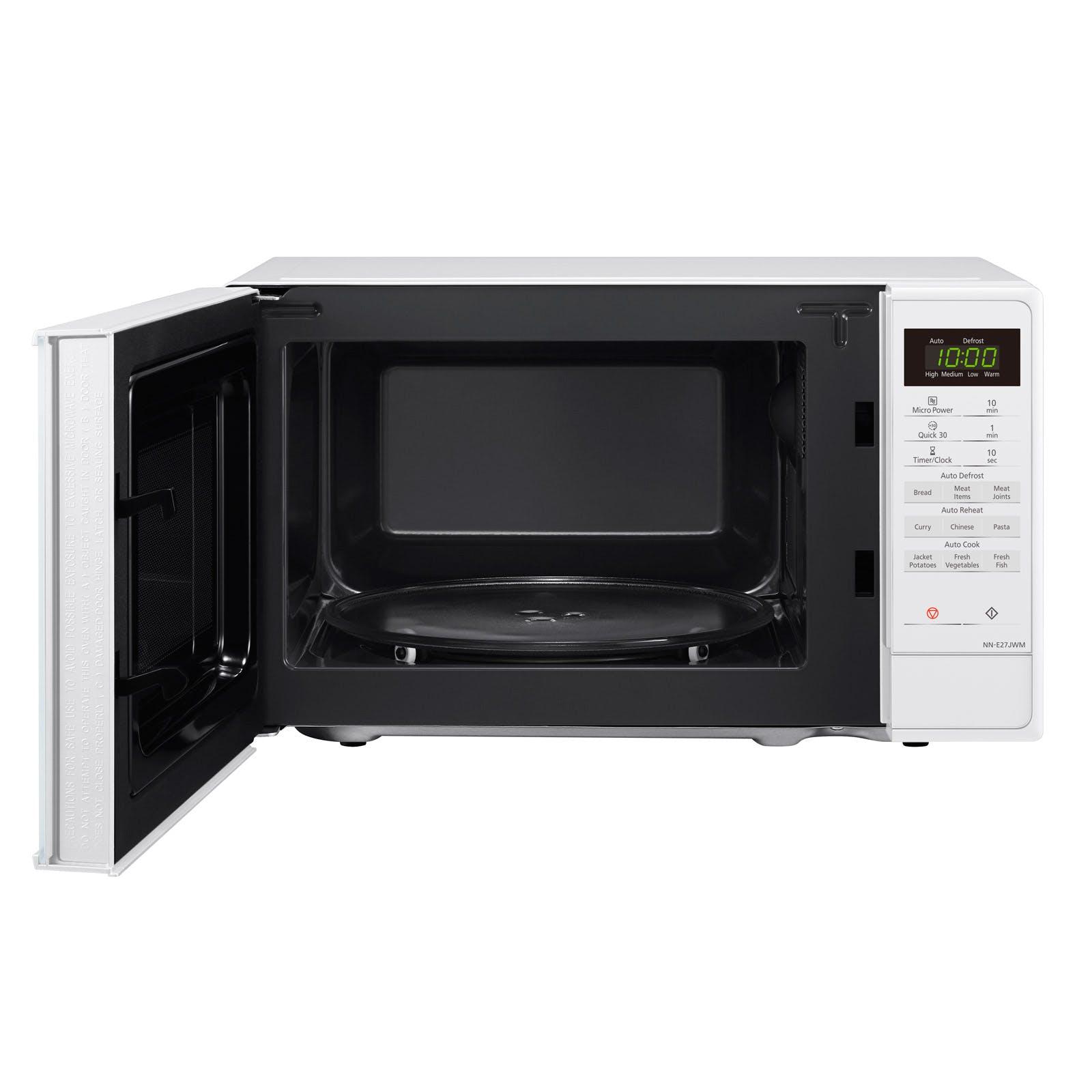Panasonic NN-E27JWMBPQ Compact Microwave Oven in White, 20 Litre, 800W