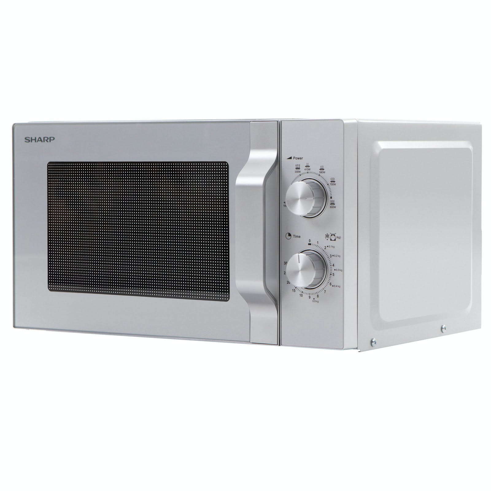 Sharp R204slm Compact Microwave Oven In Silver 20l 800w