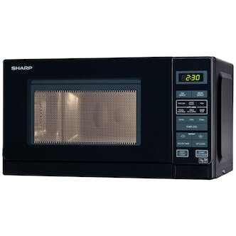 Sharp R272km Compact Microwave Oven In Black 800w 20 Litre