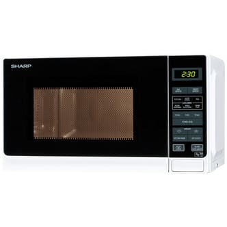 Sharp R272wm Compact Microwave Oven In White 800w 20 Litre