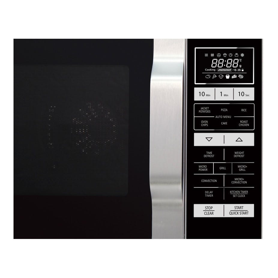 Sharp R860slm Combination Microwave Oven In Silver 25l 900w