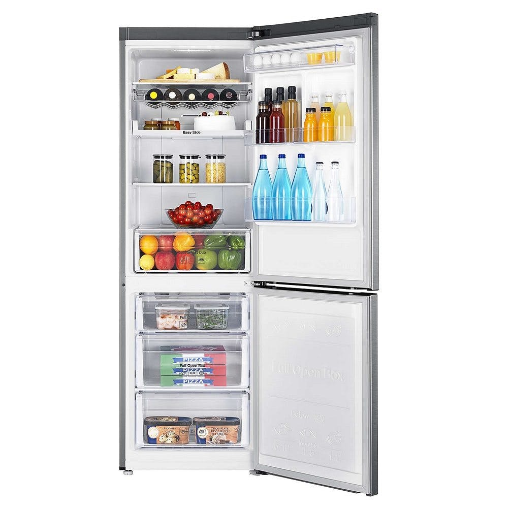 Samsung Rb33n321nss Frost Free Fridge Freezer In Brushed