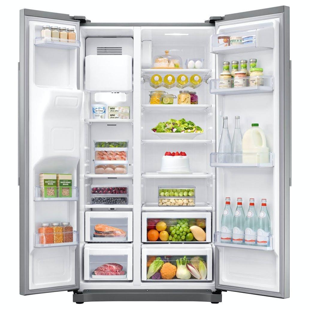 Samsung Rs50n3513sa American Fridge Freezer In Silver Ice
