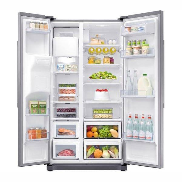 Samsung Rs50n3513s American Fridge Freezer In Silver Ice