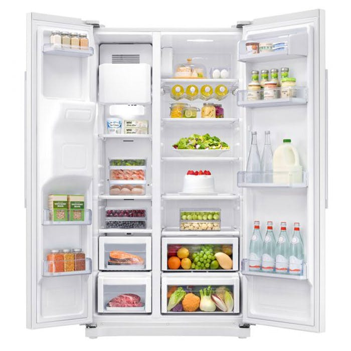 Samsung Rs50n3513ww American Fridge Freezer In White Ice