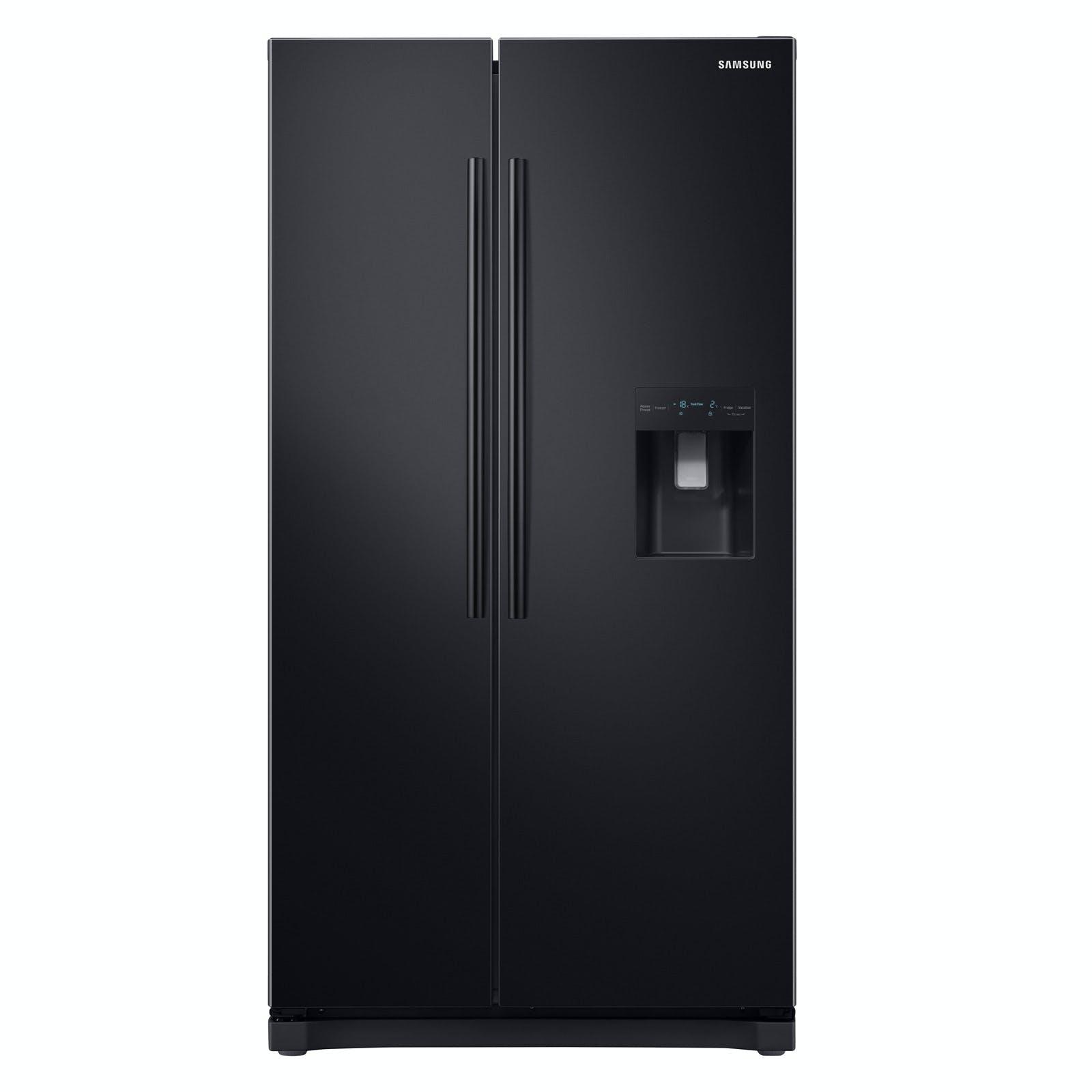 Samsung Rs52n3213bc American Fridge Freezer In Black
