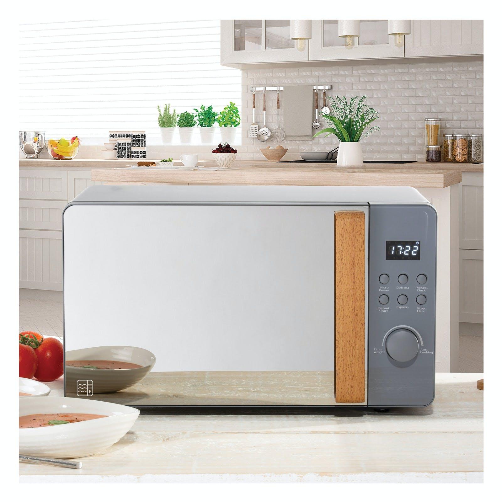 Daewoo Sda1704ge Skandik Microwave Oven In Grey 20l 800w