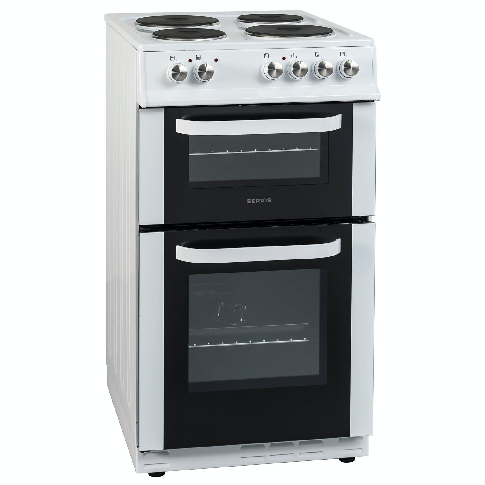Servis Ste50w 50cm Twin Cavity Electric Cooker In White A