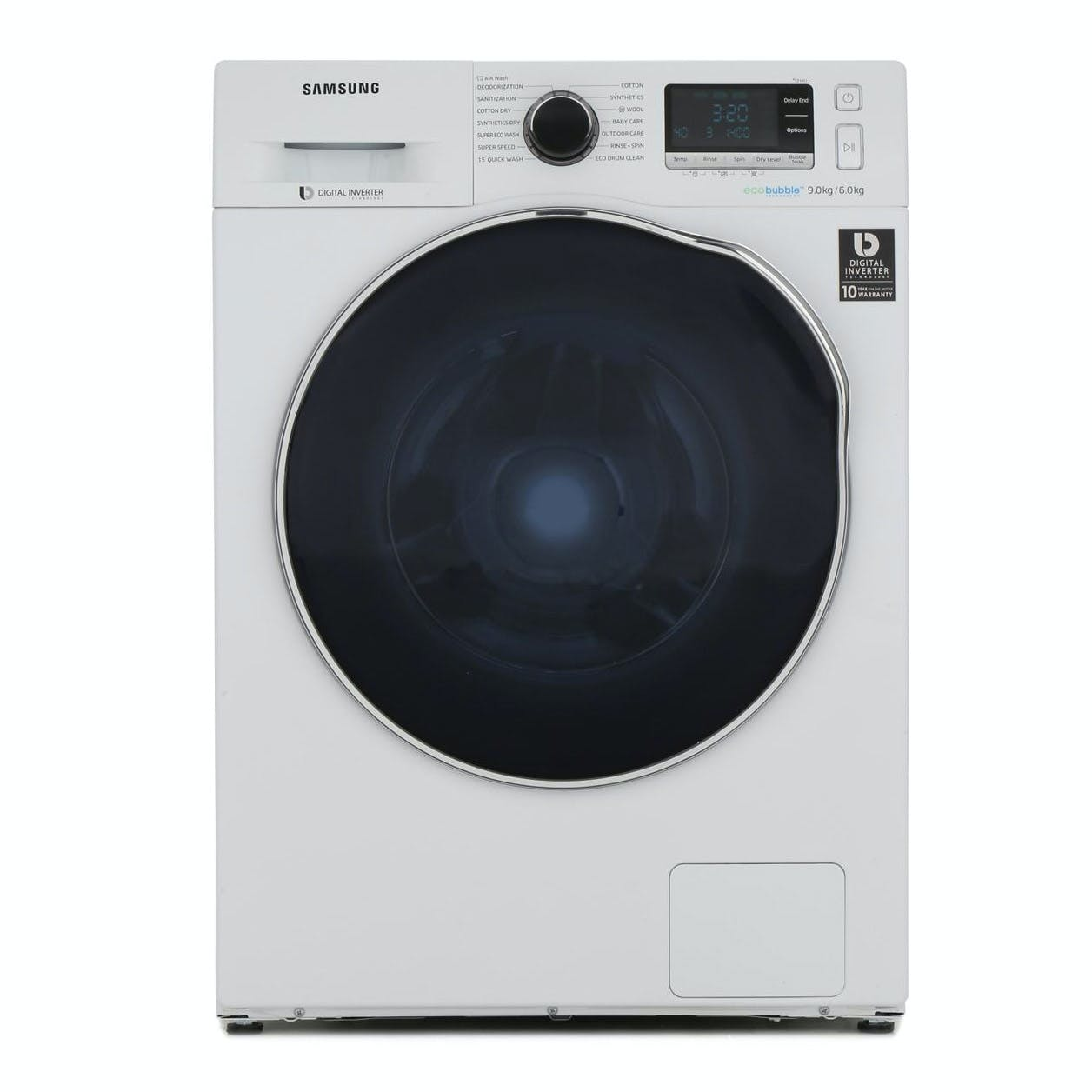 Samsung wd90j6a10aw eco bubble washer dryer in white - Samsung eco bubble ...