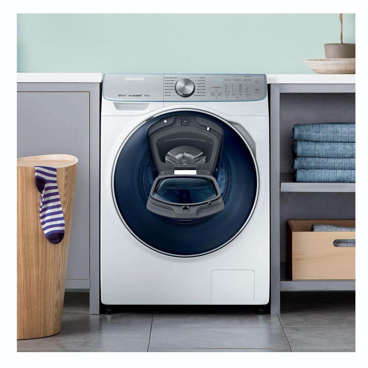 Samsung Ww10m86dqoa Quickdrive Addwash Washing Machine In White 10kg Bedong Three Set C