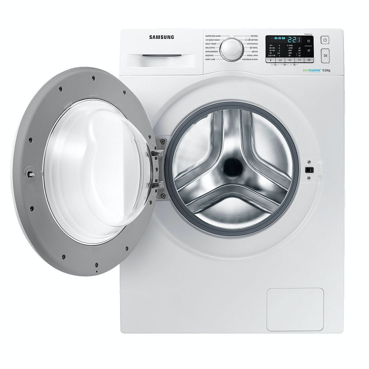 samsung ww90j5455mw eco bubble washing machine in white 1400rpm 9kg a. Black Bedroom Furniture Sets. Home Design Ideas