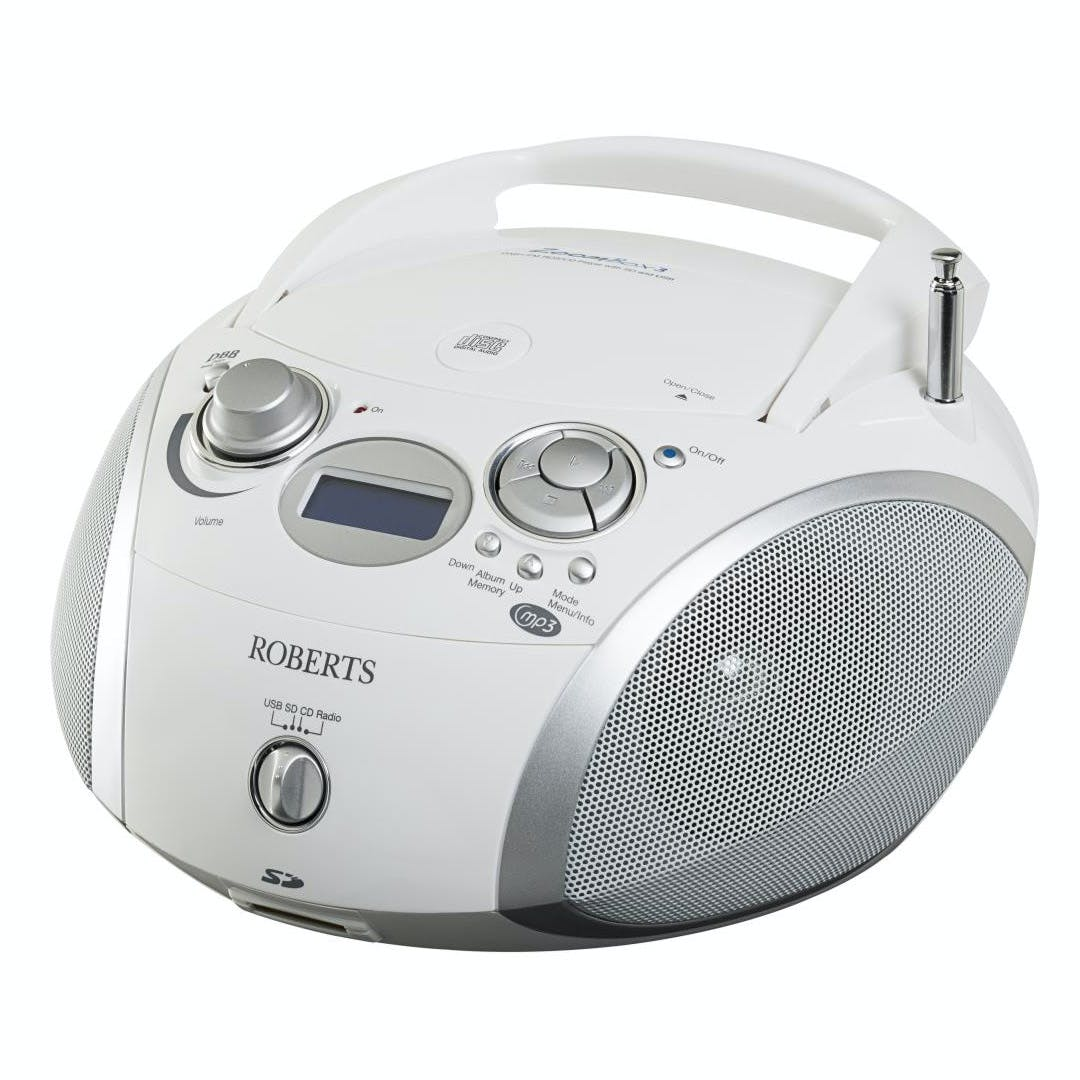 roberts zoombox 3 portable dab radio with cd player sd. Black Bedroom Furniture Sets. Home Design Ideas